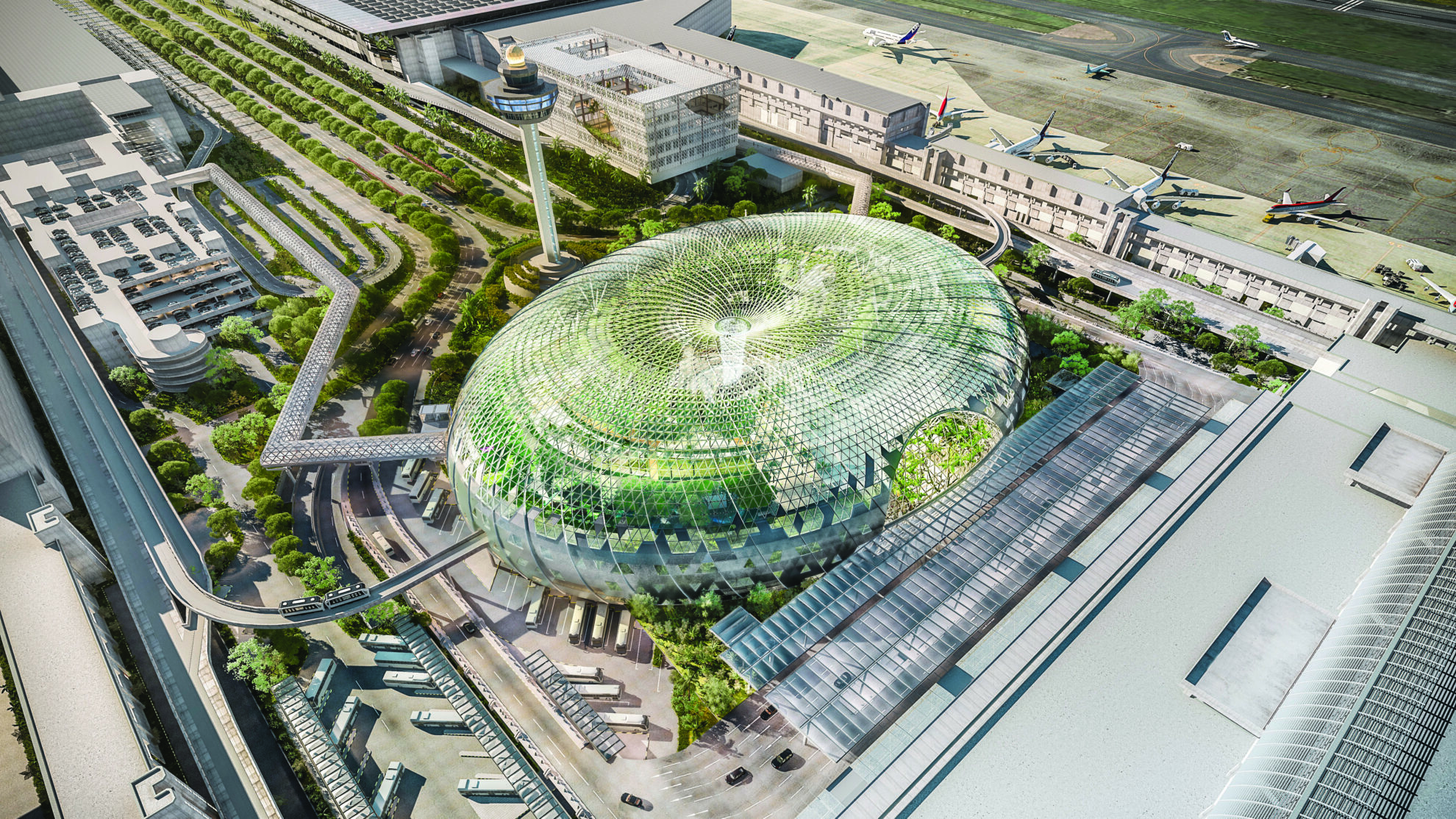 Image 3 - Aerial view of Jewel Changi Airport