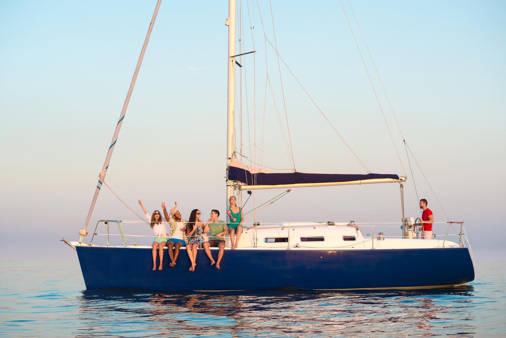 Digital nomads on a yacht