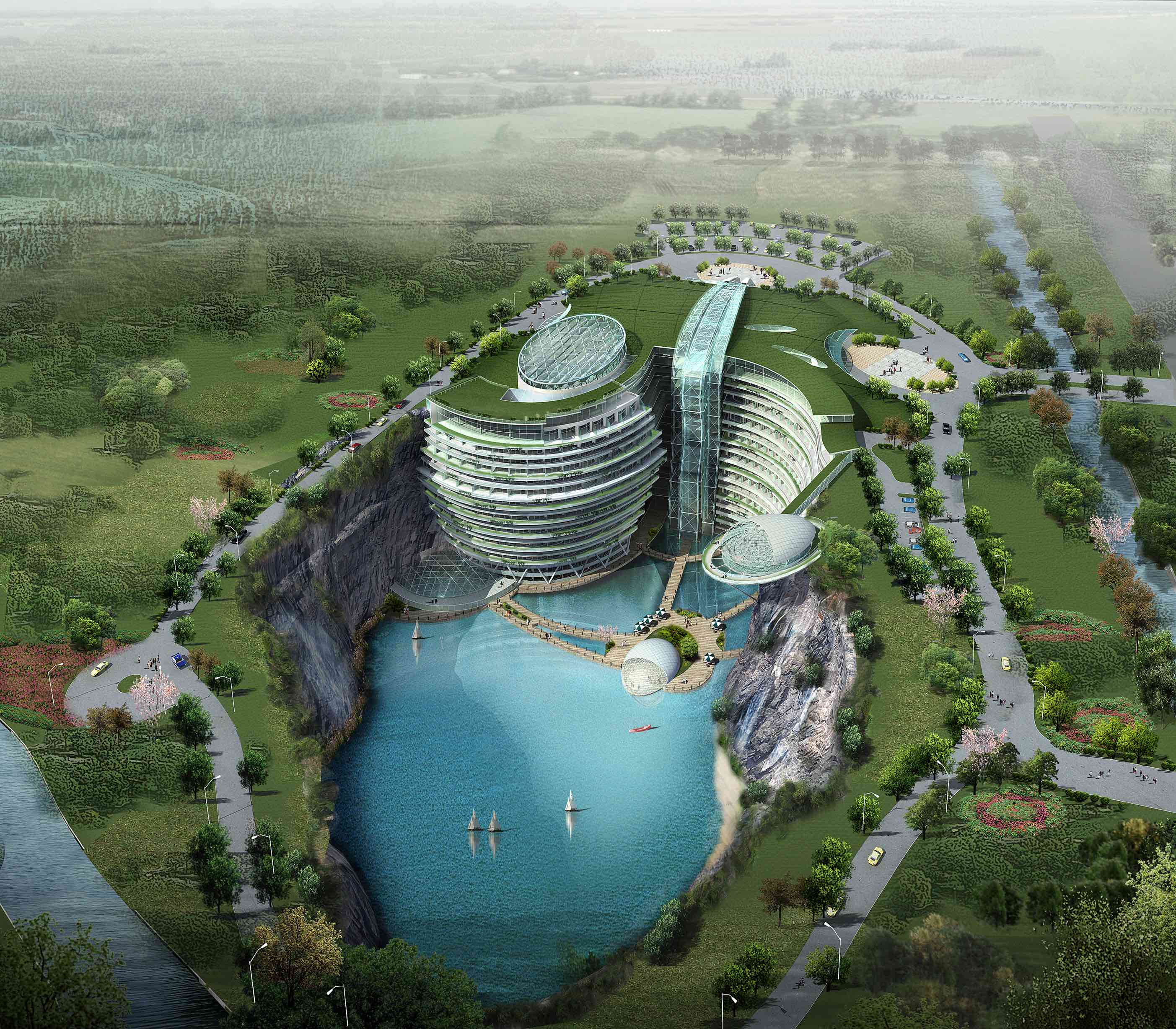 Songjiang Intercontinental Quarry Hotel in China (luxury travel trends)