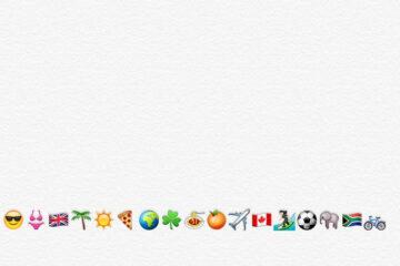 Emoji flight search