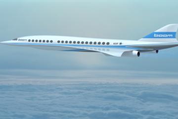 Supersonic plane Richard Branson