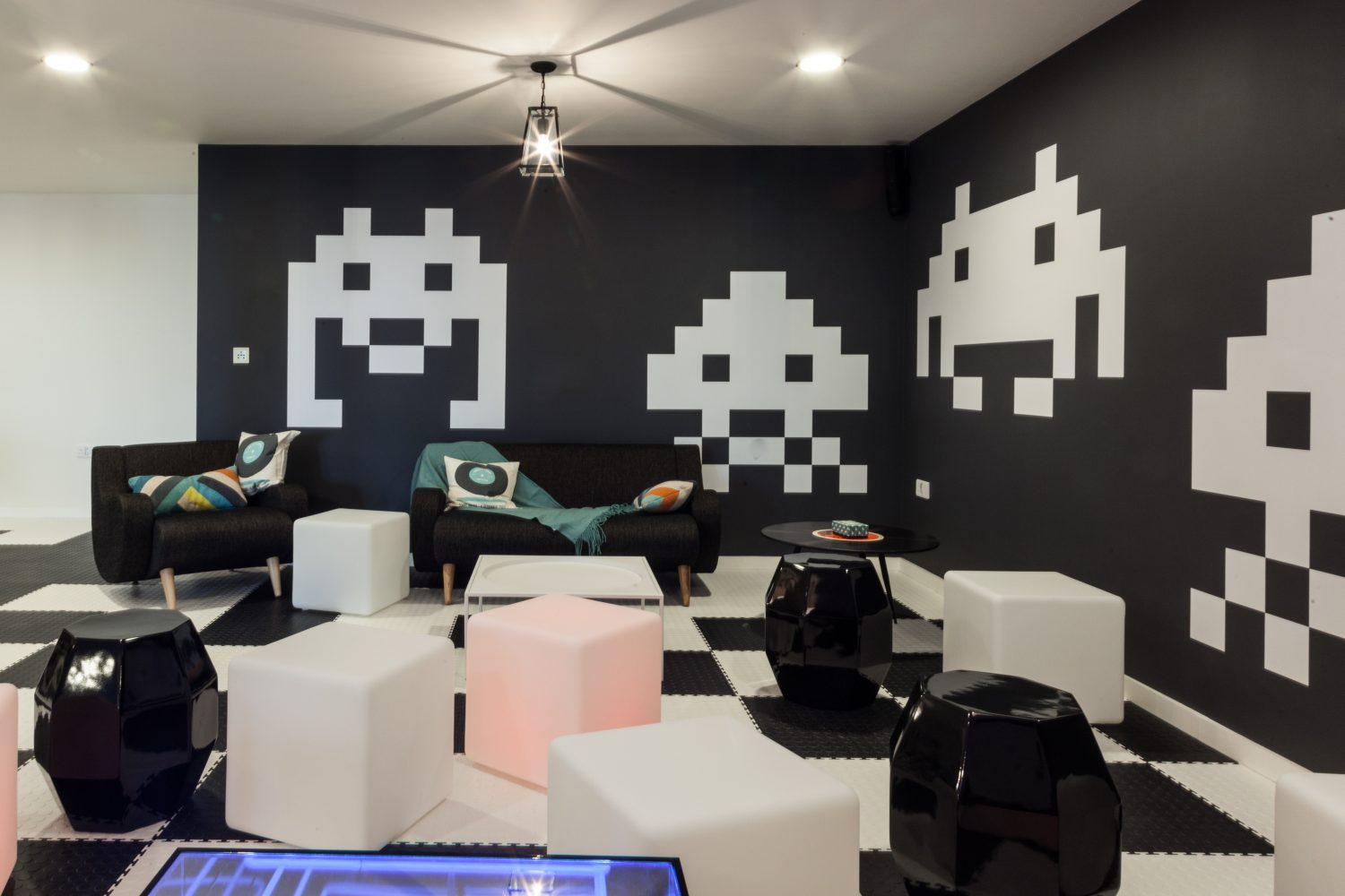 Games room co-living at the Collective Old Oak