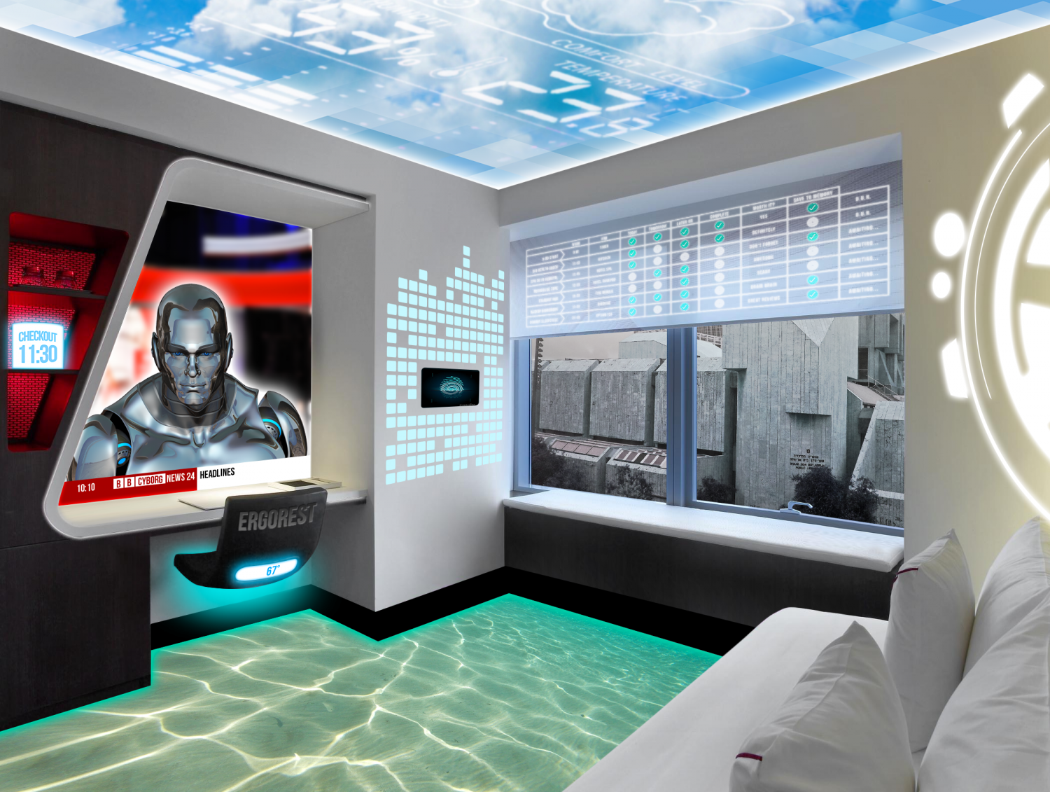 Smart hotel room of the future