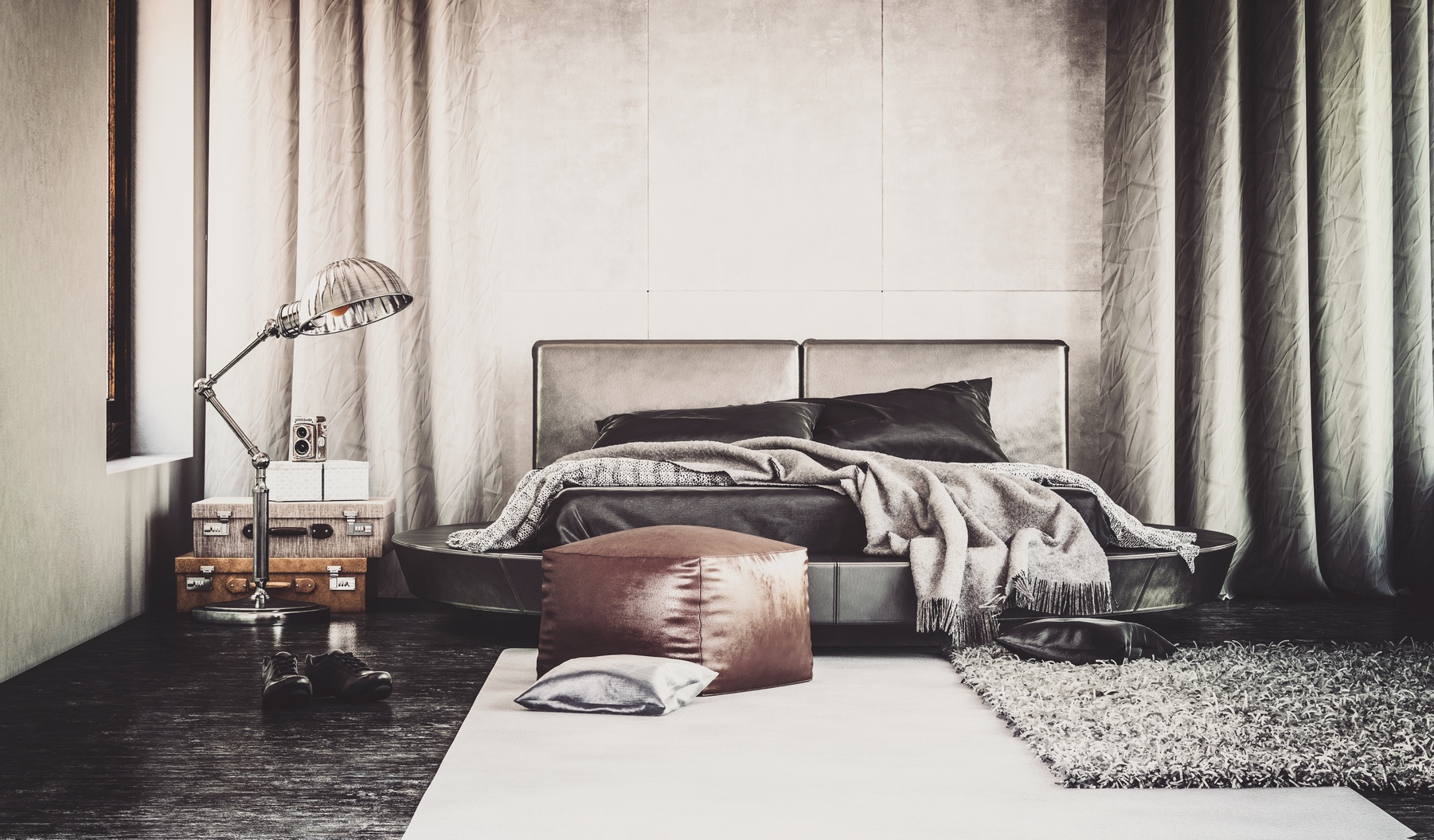 Stylish hotel room