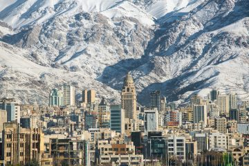 Mountains over Tehran, Iran
