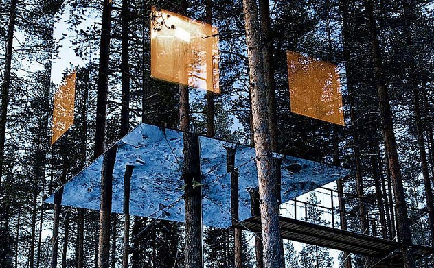 Remote hotels, Tree Hotel, Sweden