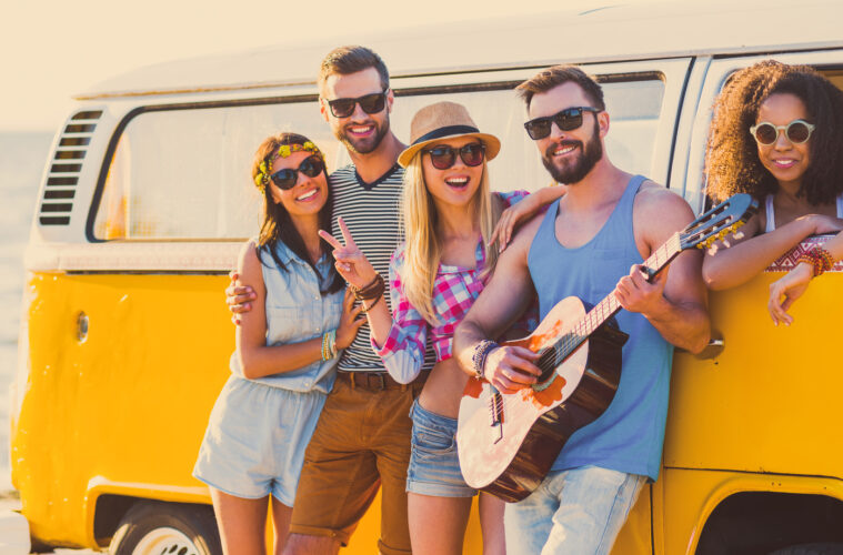 Touring holiday VW campervan