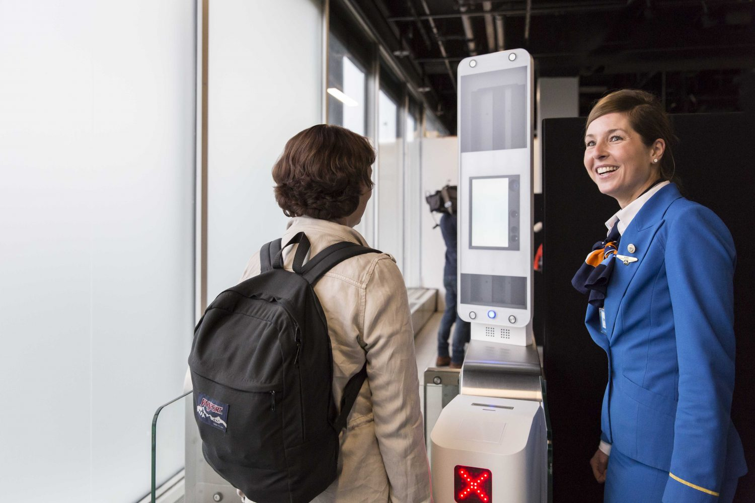 Facial recognition technology at the airport