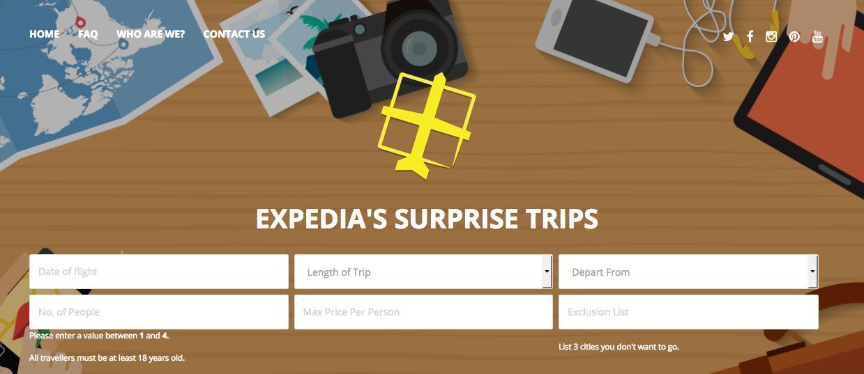 Expedia Surprise Trips