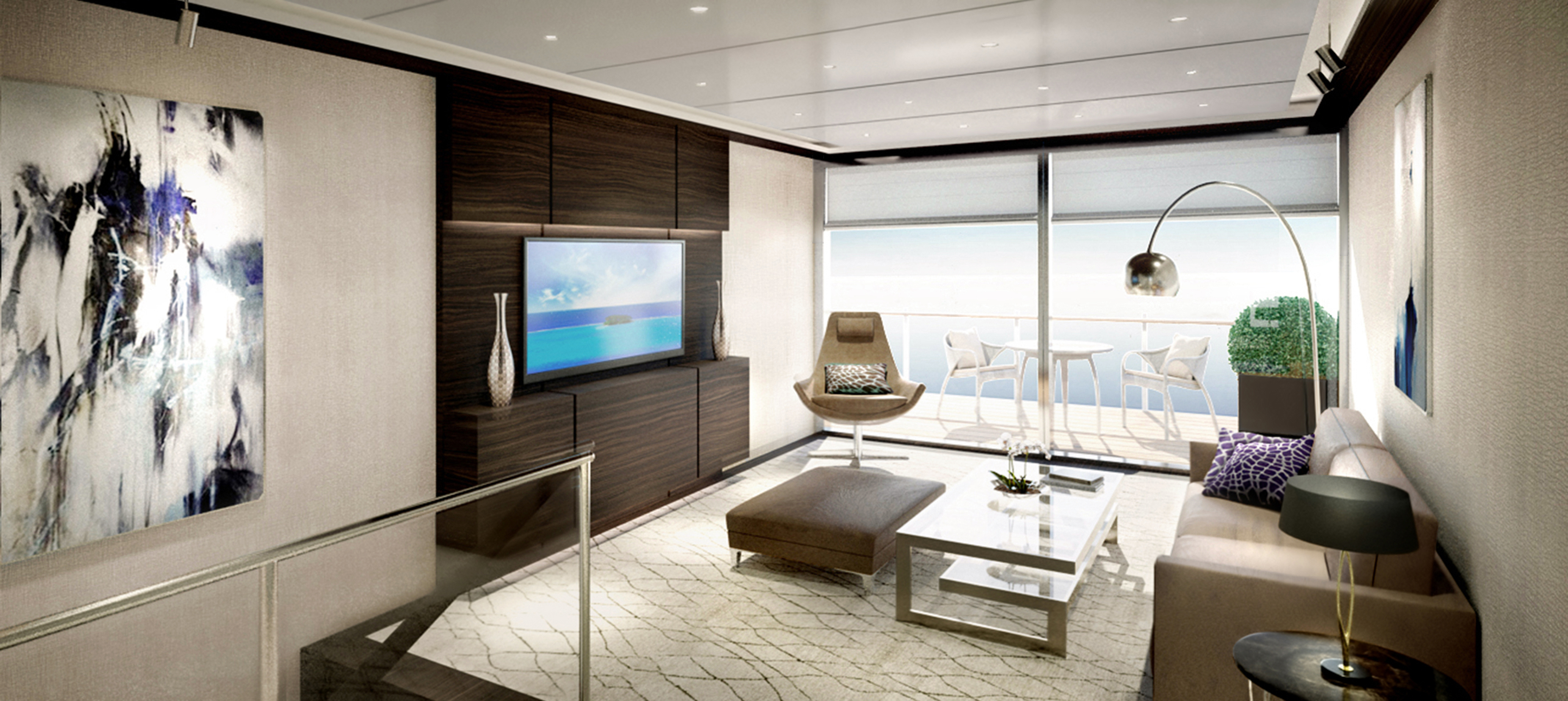 Duplex Suite, Ritz-Carlton yacht