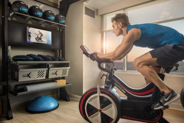 Hilton Five Feet to Fitness hotel room gym