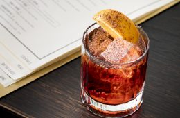 Aperitivo cocktails, chocolate negroni, Dante