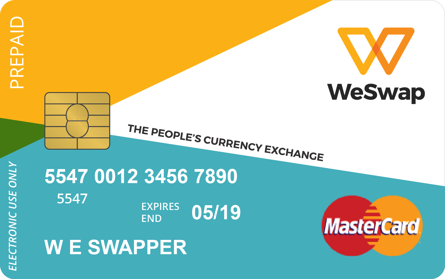 WeSwap MasterCard