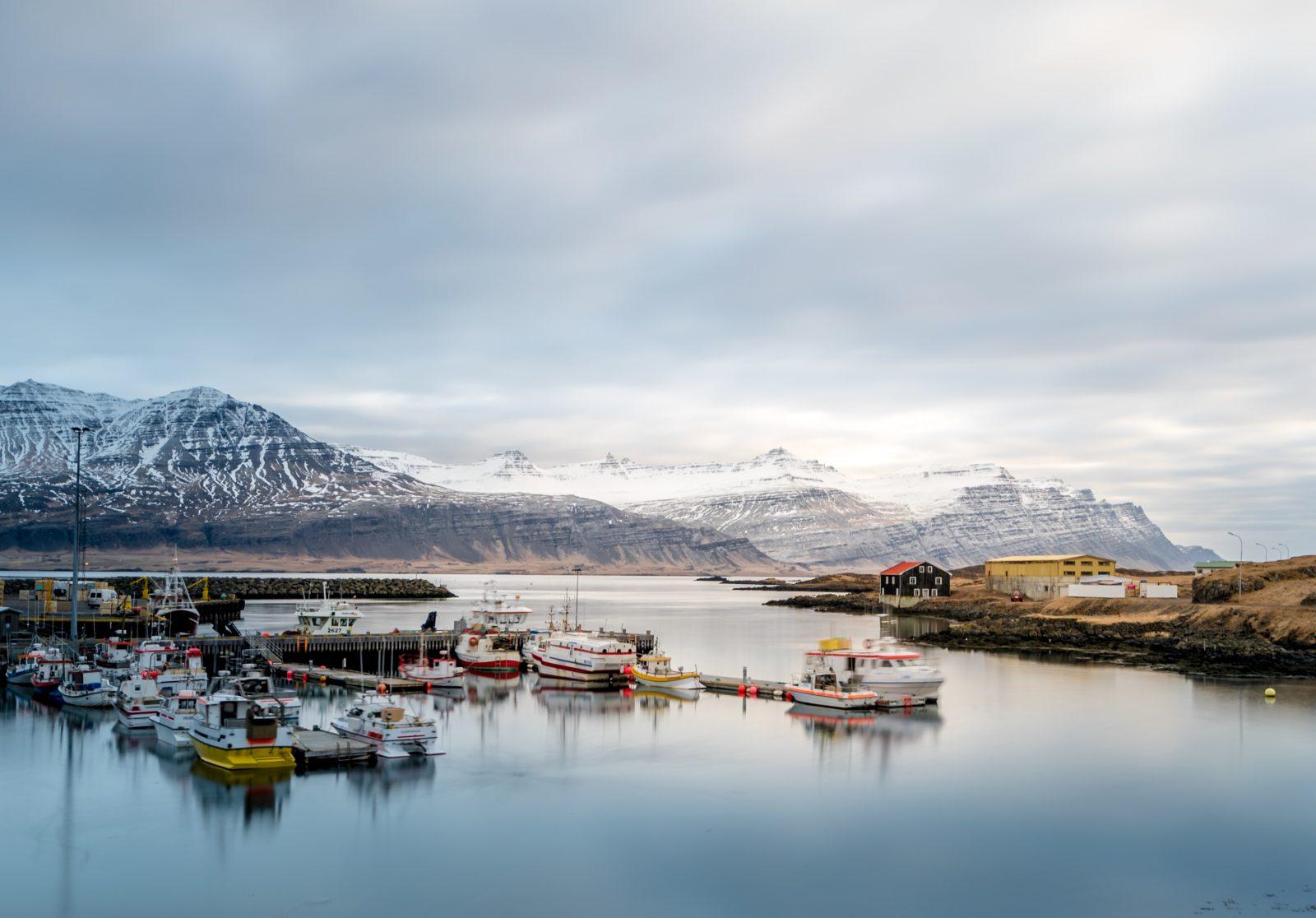 Seaport in Djúpivogur, Iceland