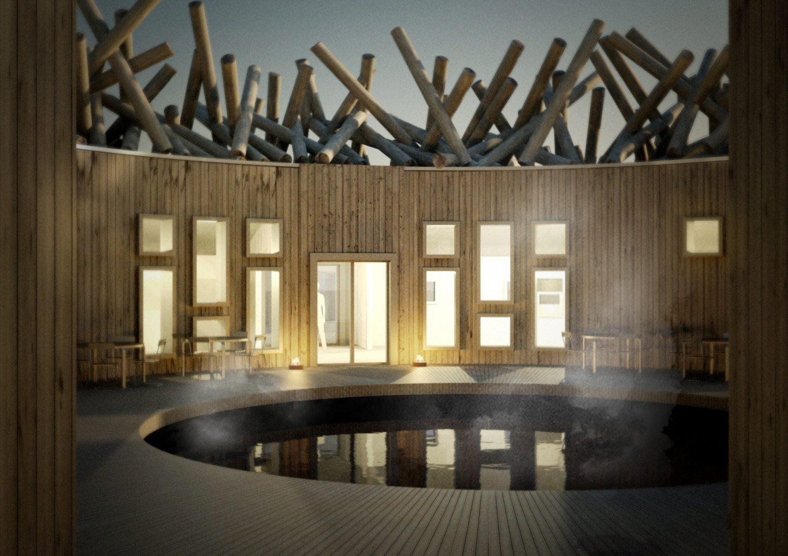 Arctic Bath patio