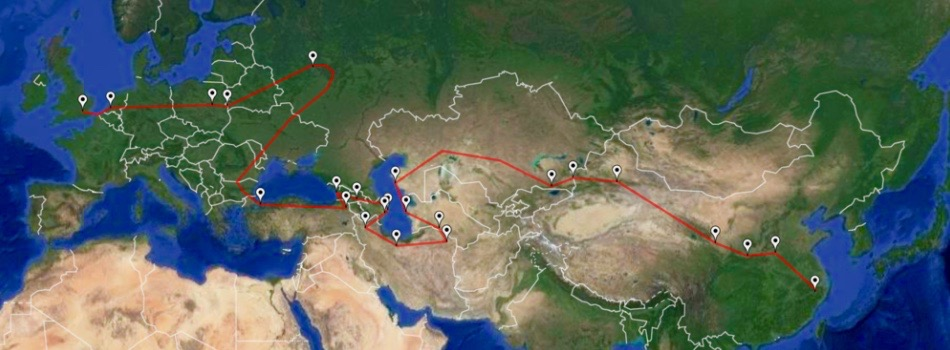 The New Silk Road route