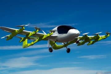 Cora autonmous flying taxi by Kitty Hawk