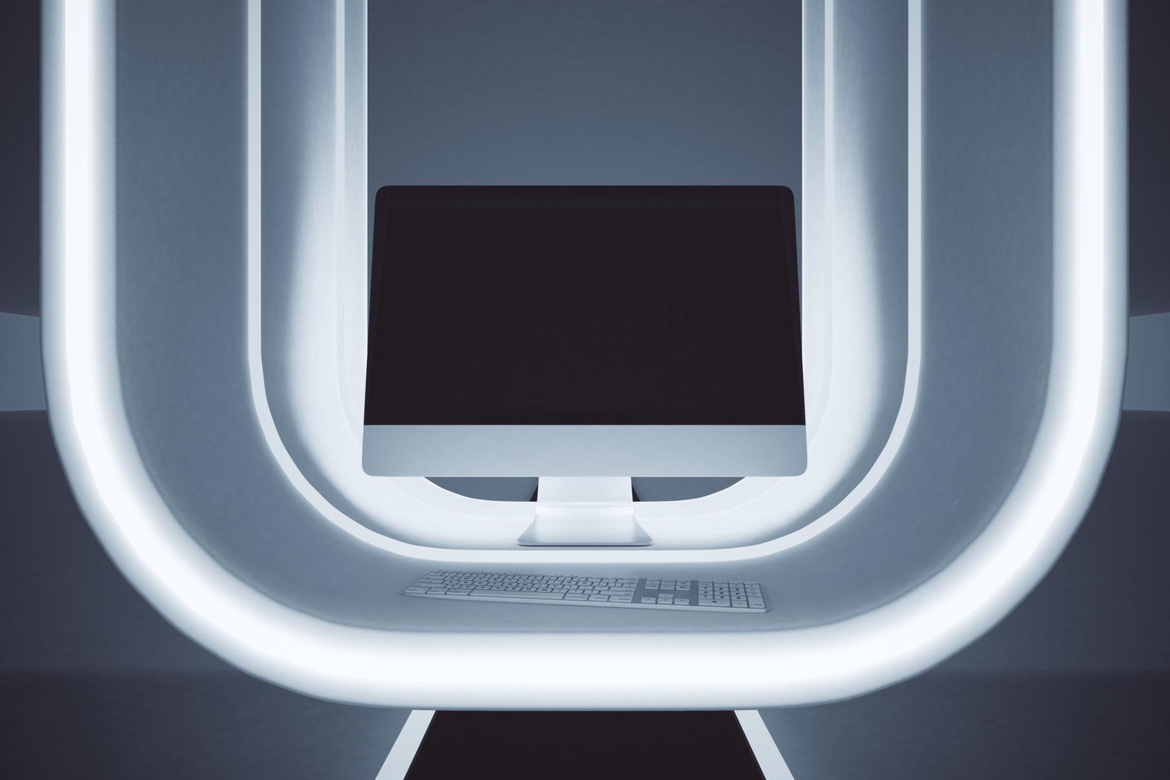 Futuristic workplace