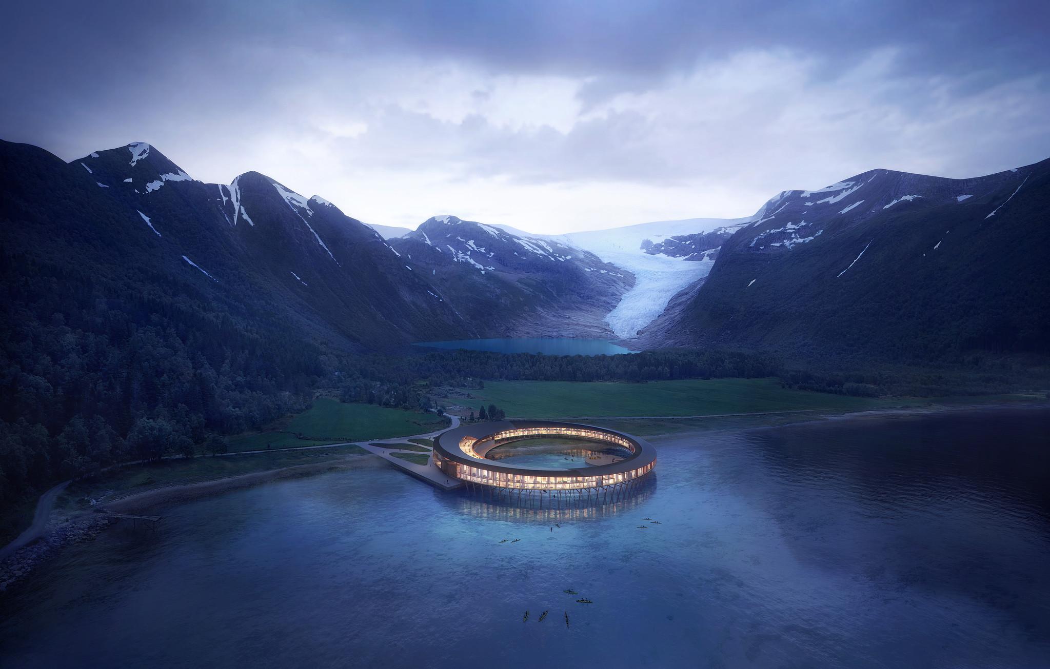 Svart hotel, Norway by Snøhetta