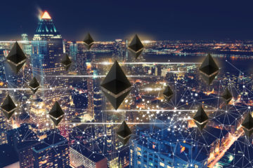 Ethereum with the New York City skyline