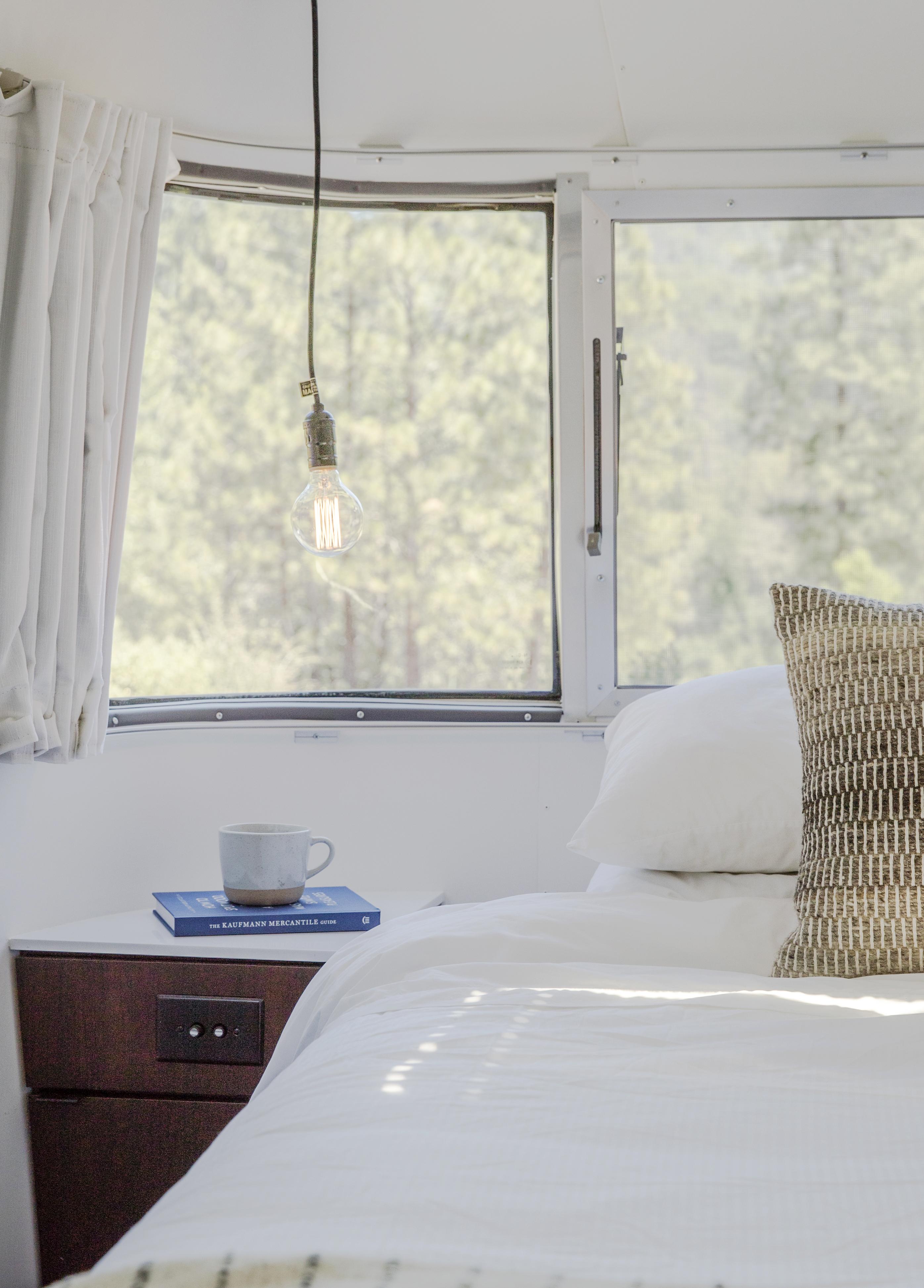 Autopark Airstream trailer bedroom