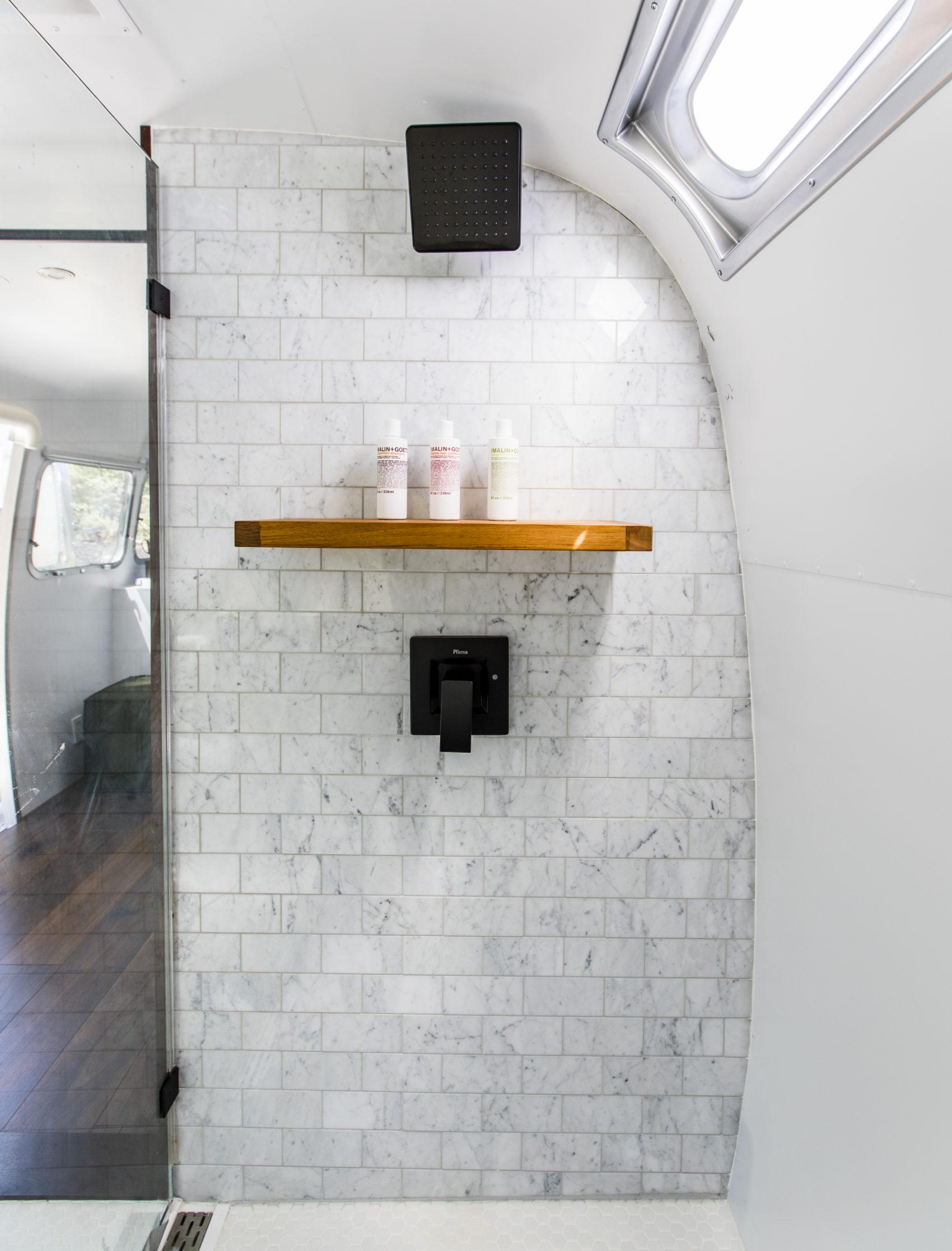 Autopark Airstream trailer bathroom
