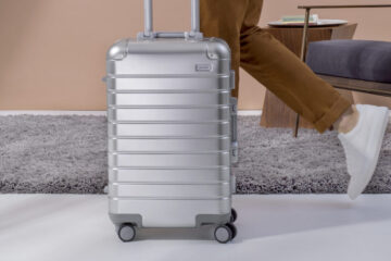 Away Aluminum Edition Carry-on smart suitcase