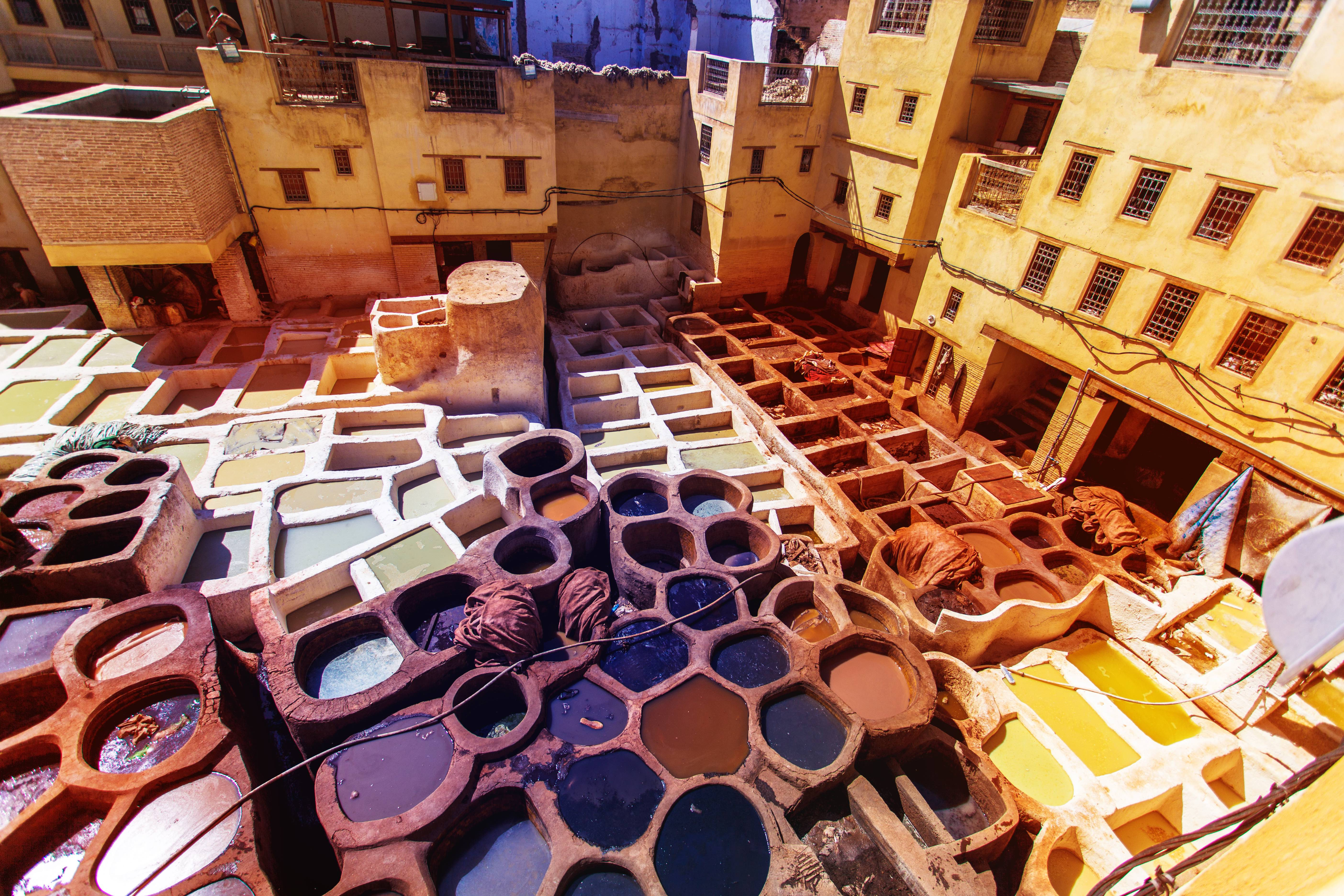 Tanneries of Fez, Morocco