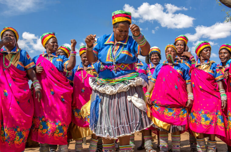 Dancers in Limpopo, Africa