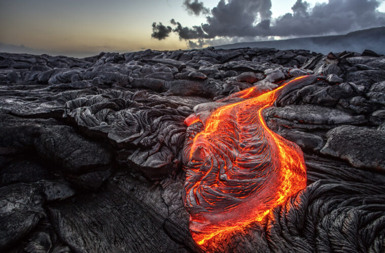 Lava from volcano in Hawaii