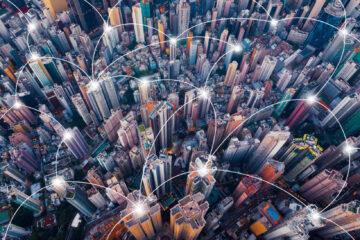 Blockchain cryptocurrency city