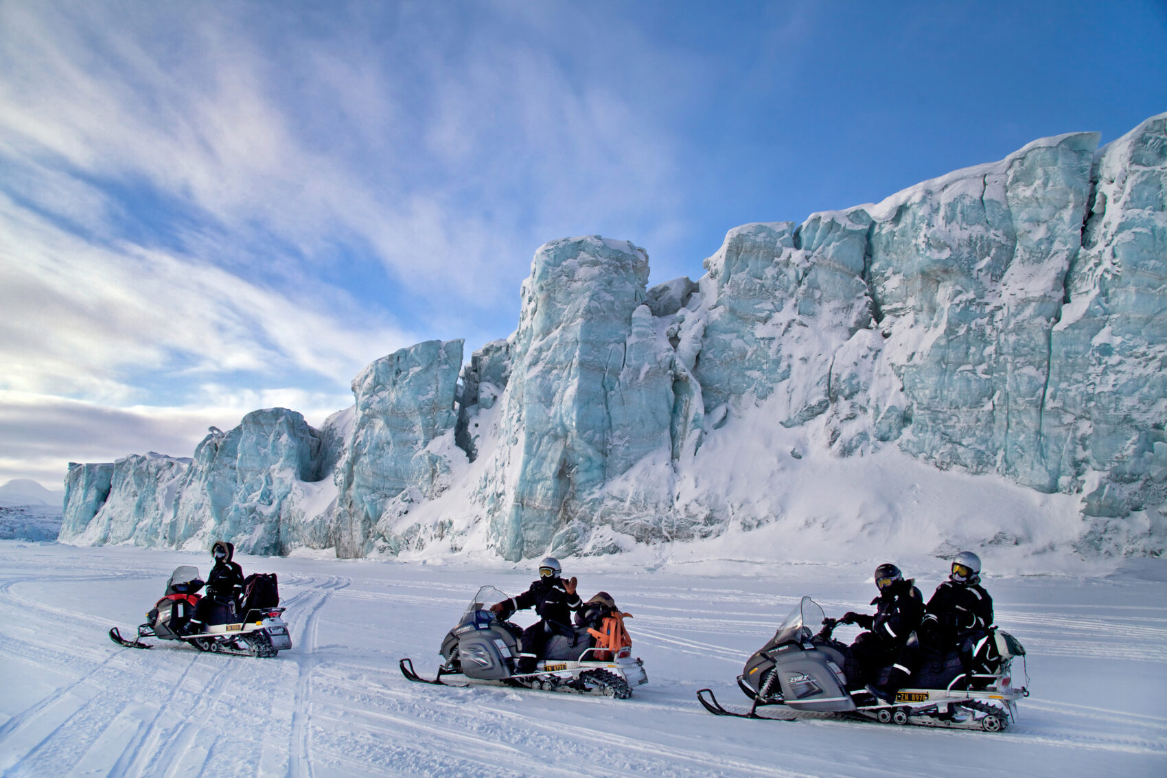 Svalbard snowmobiling