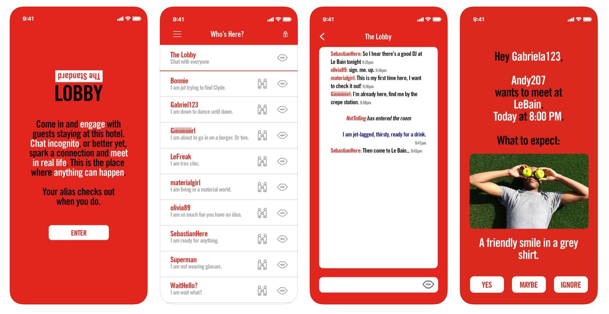 The Standard Lobby app