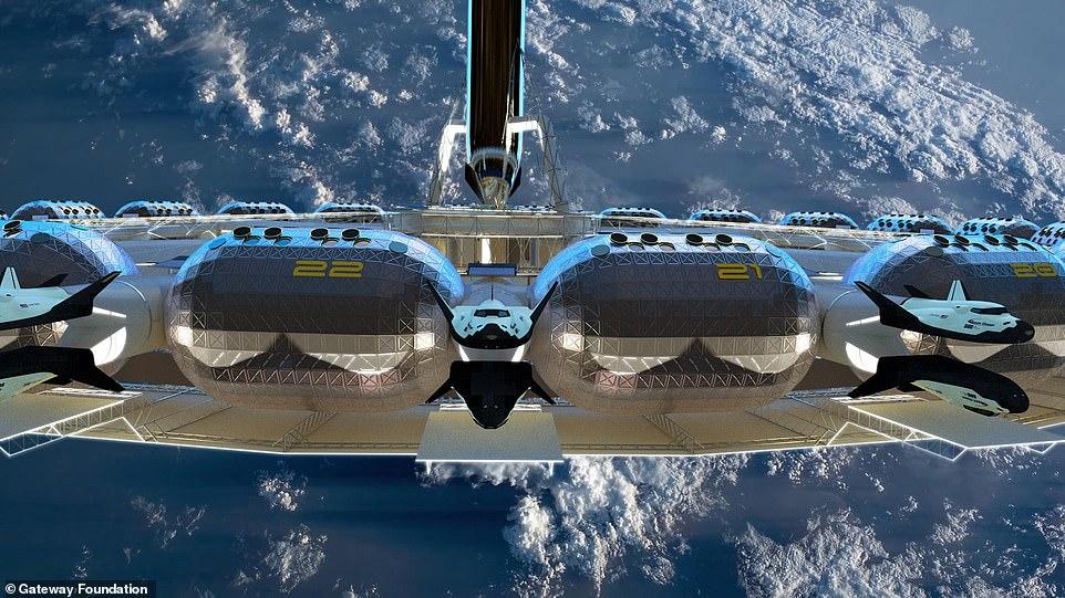 Von Braun rotating space station hotel