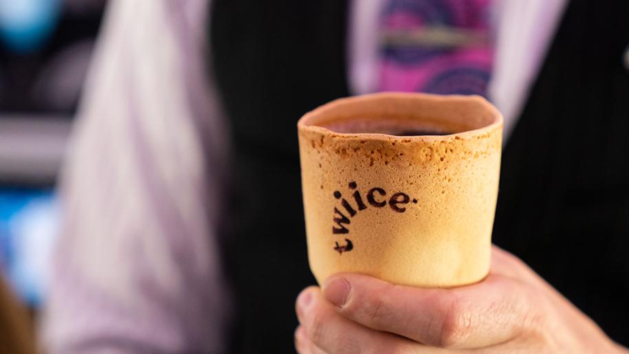 Air New Zealand edible cups