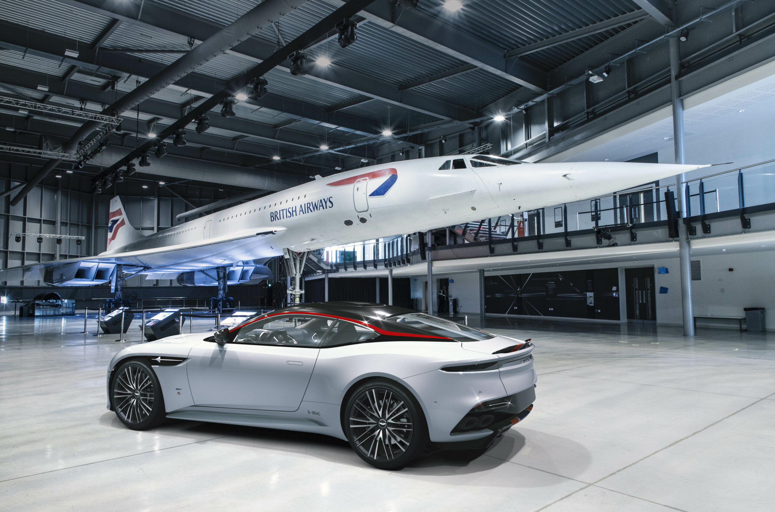 British Airways and Aston Martin DBS Superleggera Concorde Edition car