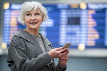 Senior female solo traveller