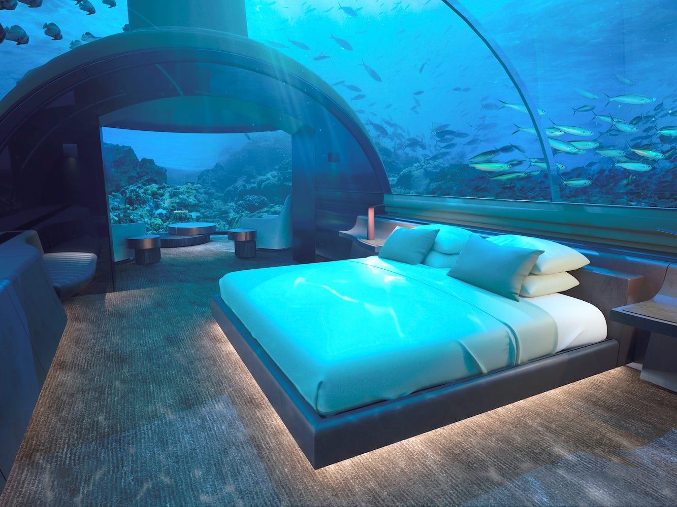 Muraka underwater villa, Conrad Maldives