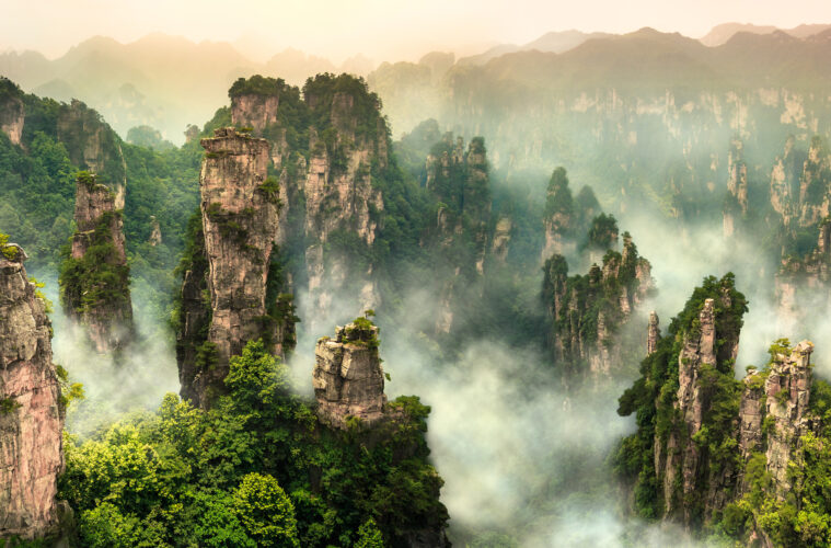 Zhangjiajie cliff mountain at Wulingyuan Hunan China