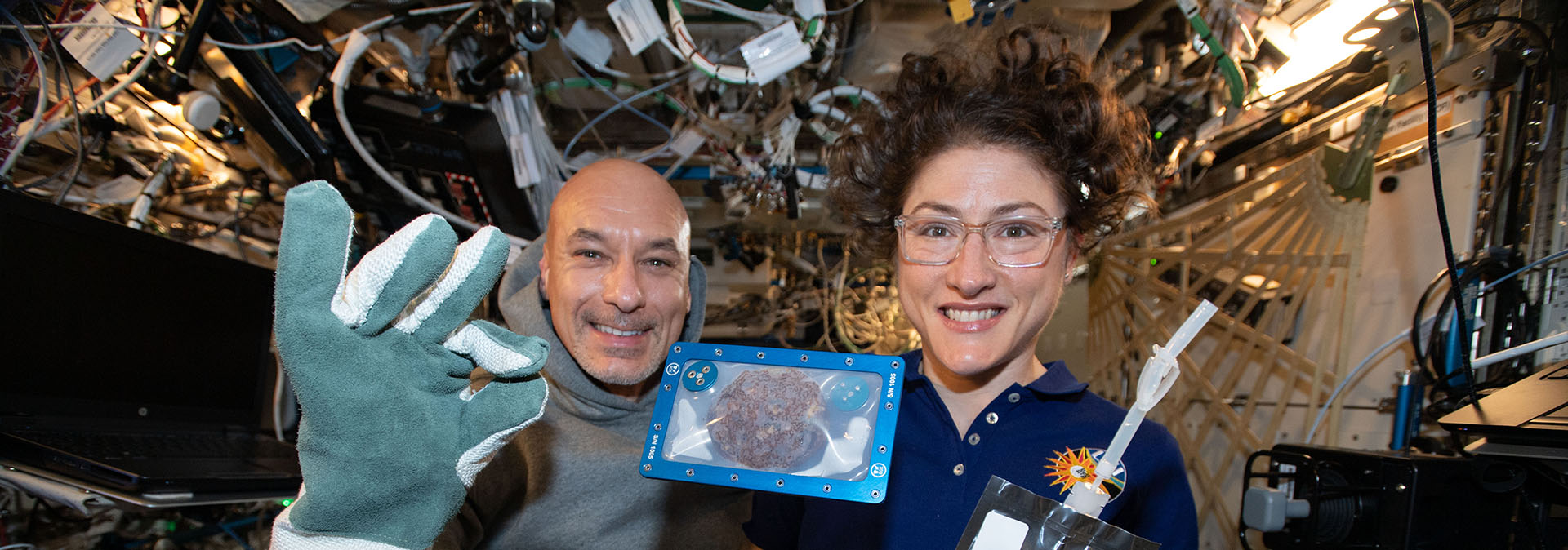 DoubleTree cookie baked on the ISS