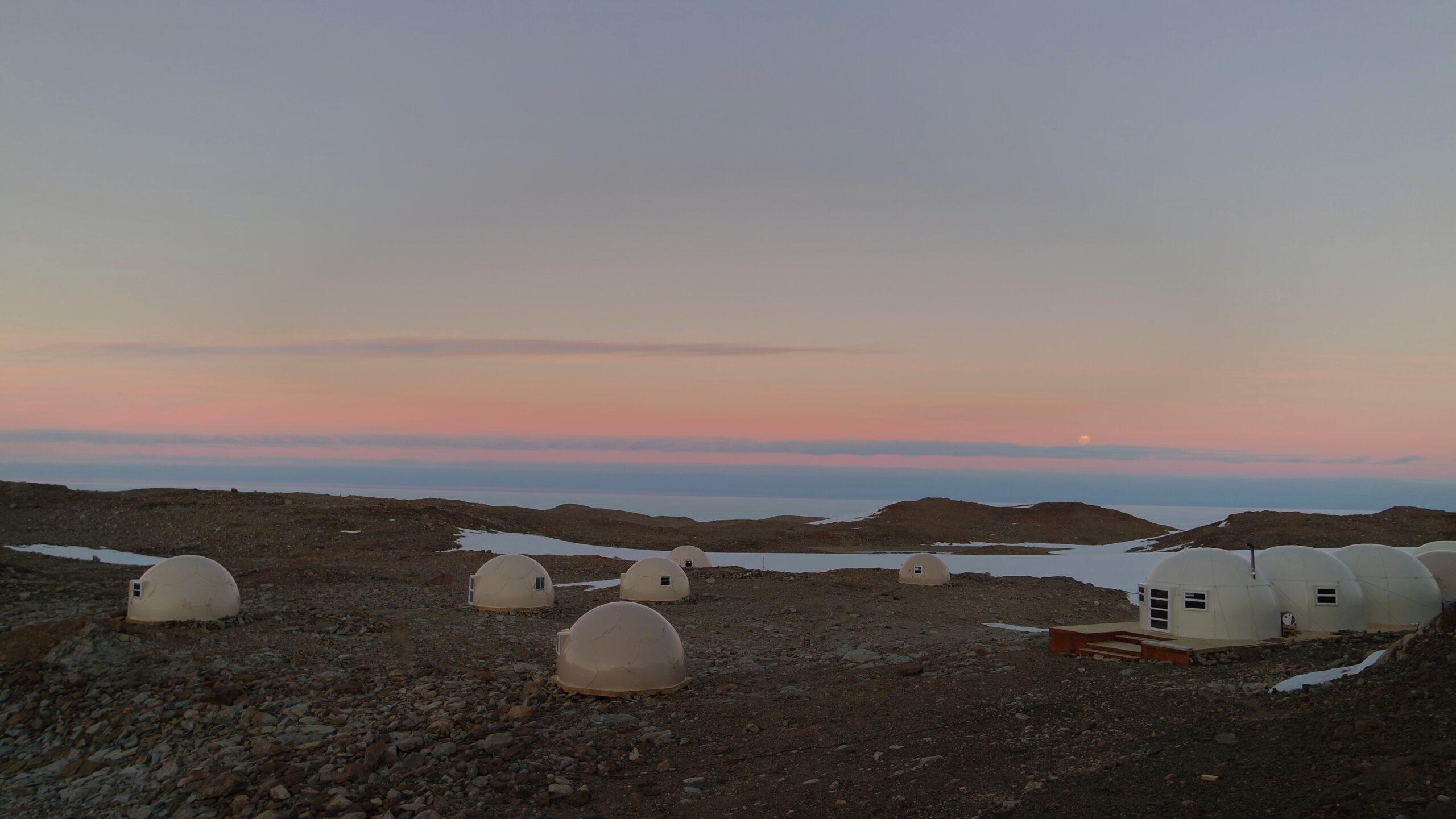 White Desert camp