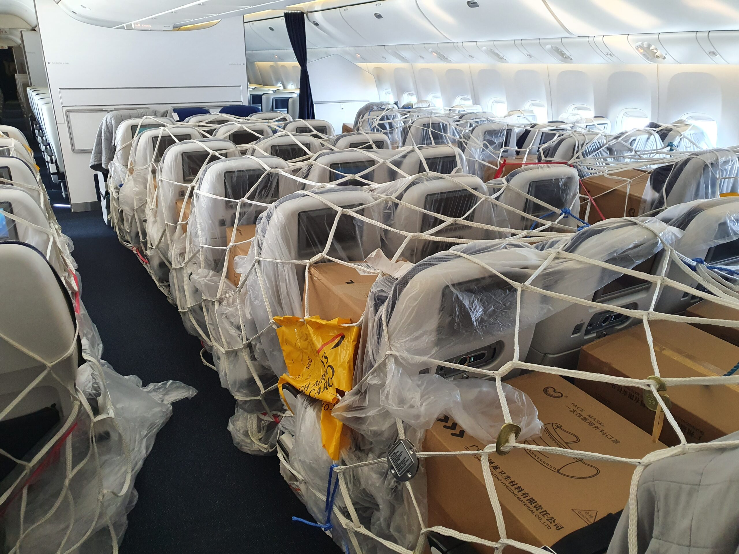 British Airways PPE cargo from China