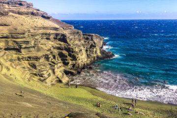 Green sand beach, Hawaii