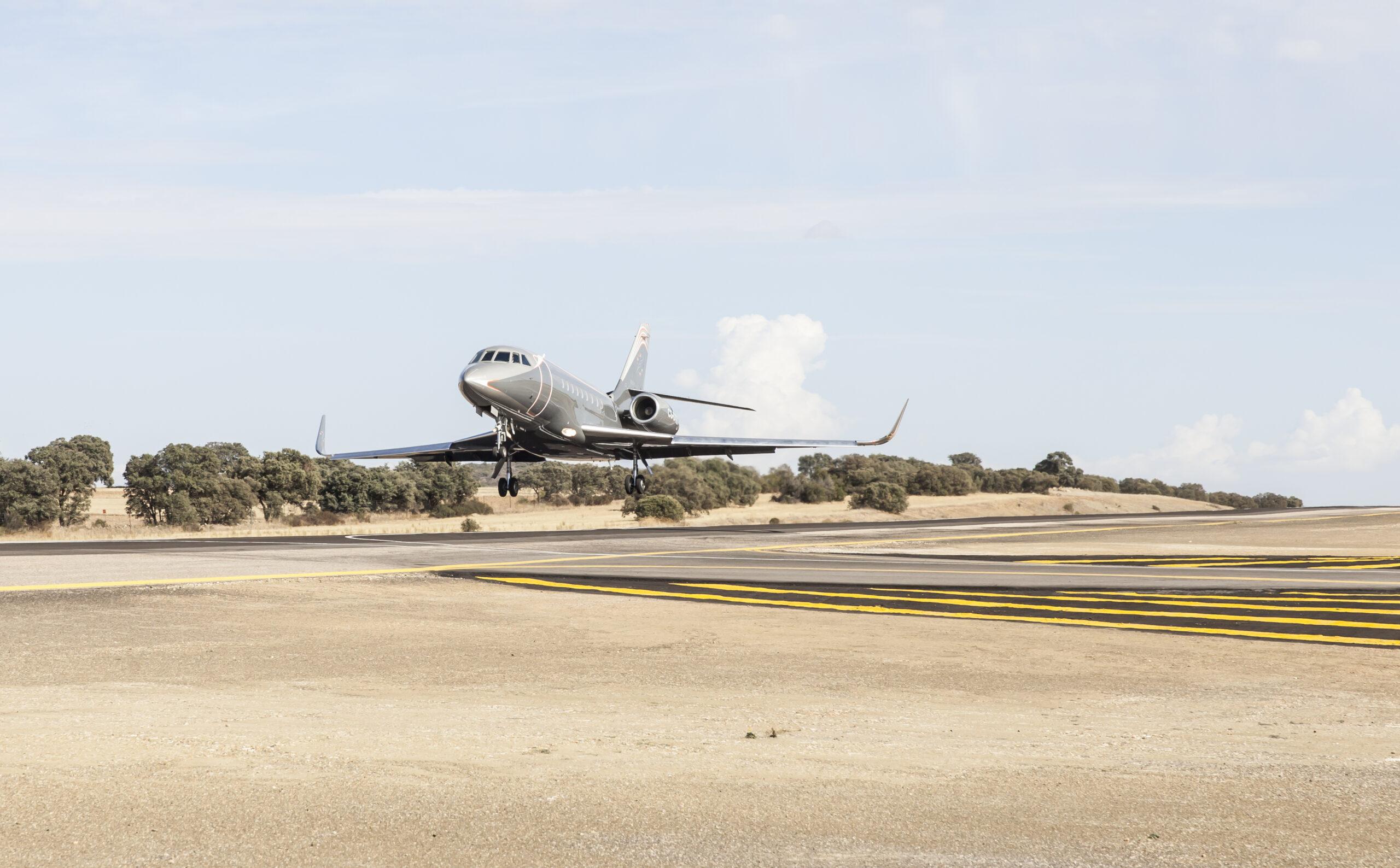 Private runway at Spanish estate