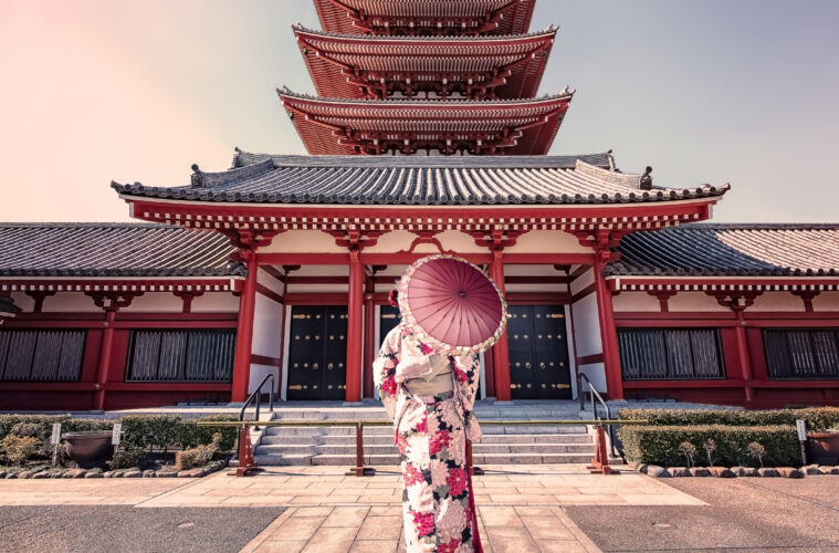 Japanese woman in traditional dress