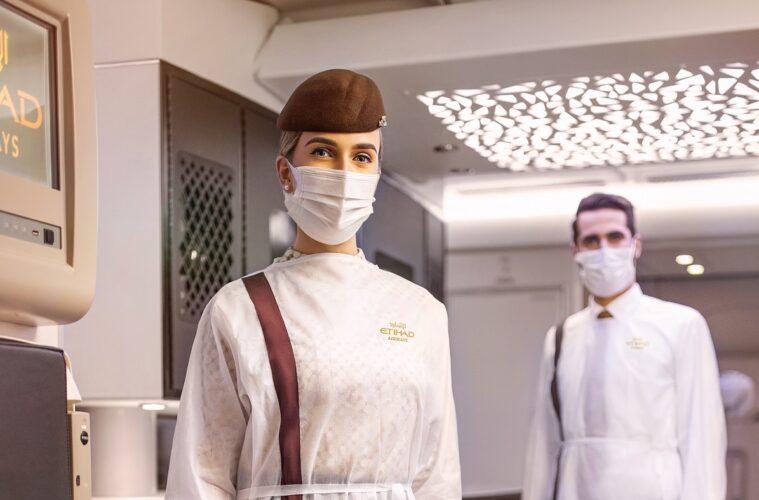 Etihad Cabin Crew in PPE