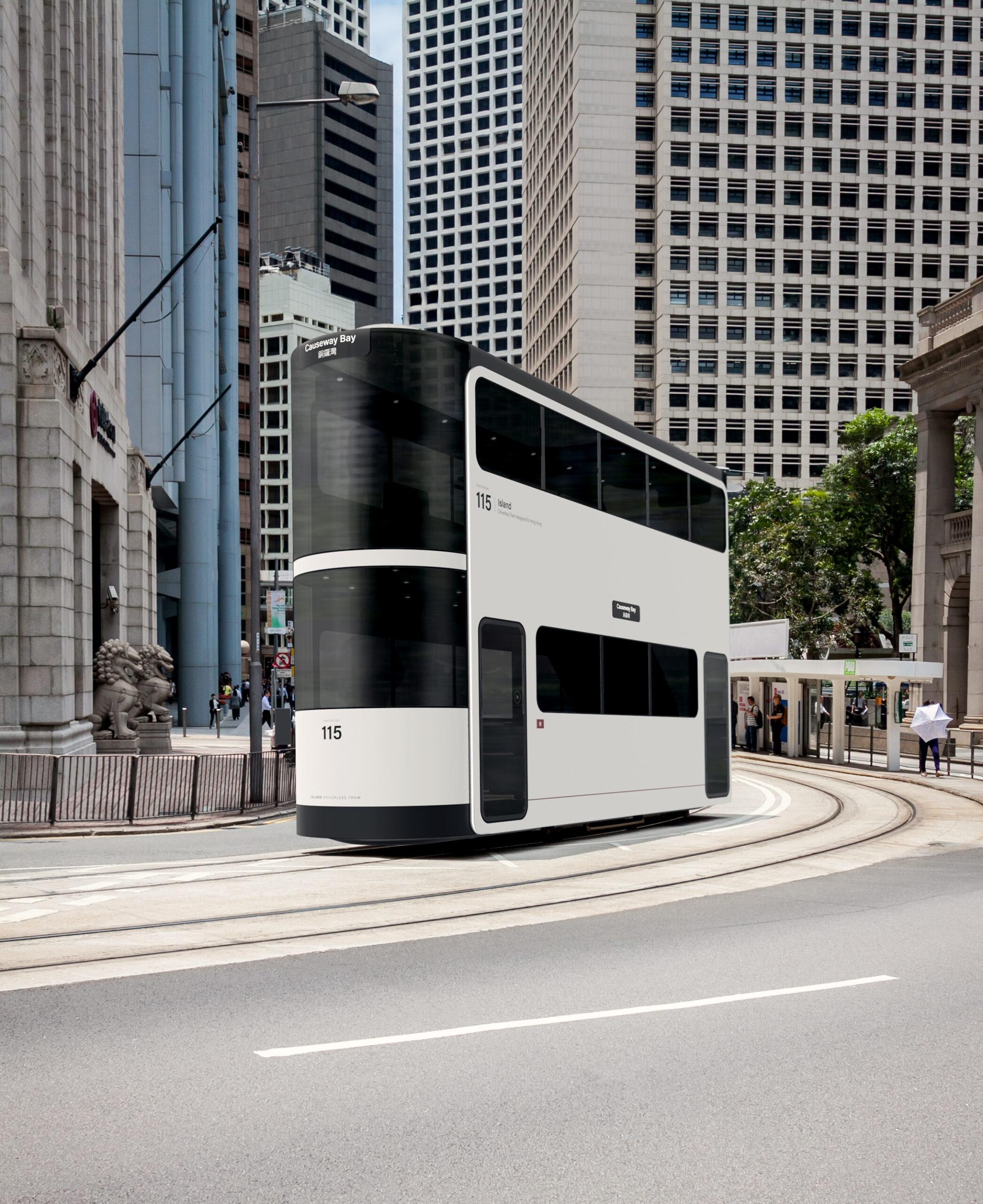 Island tram, Hong Kong, by Andrea Ponti