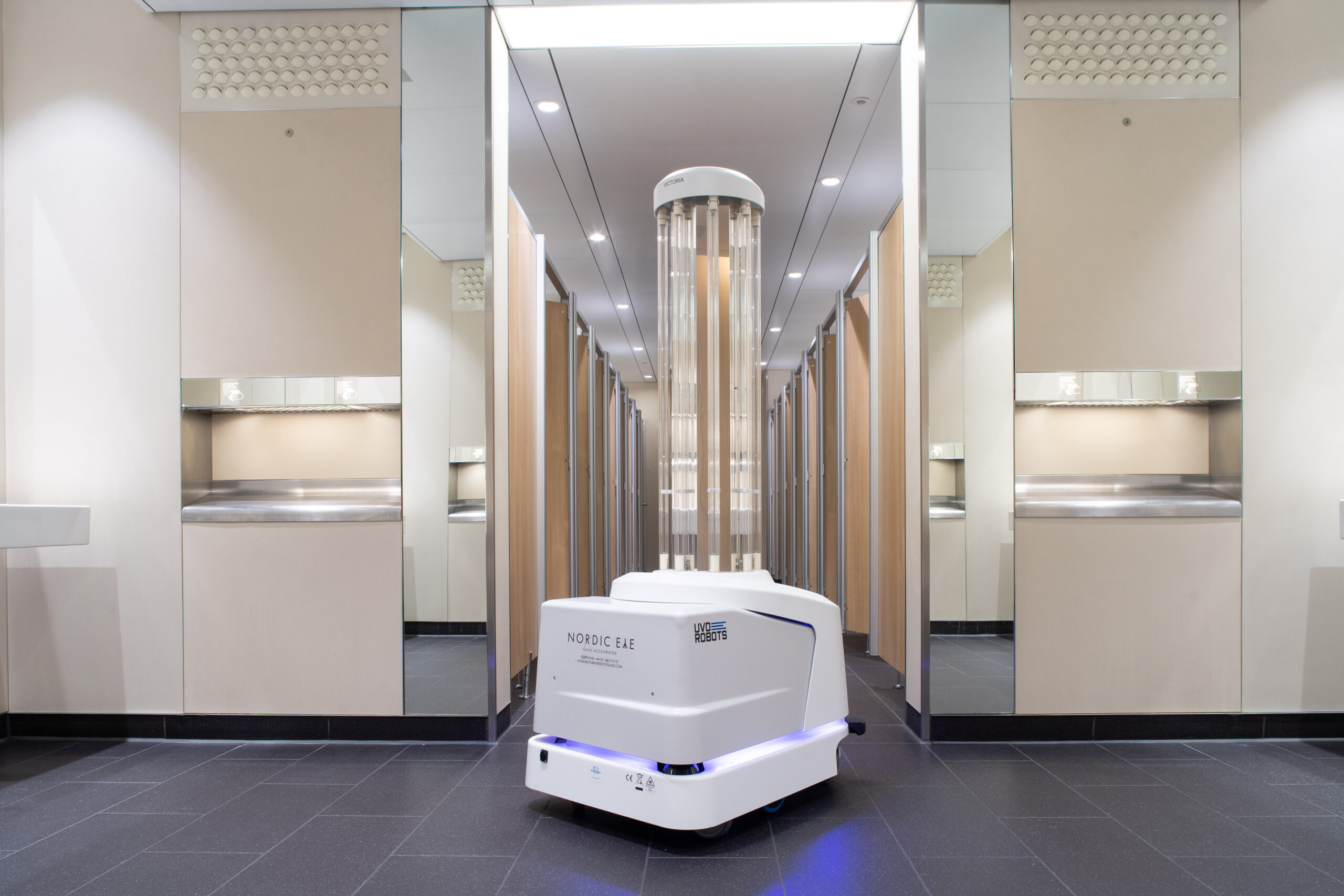 Heathrow airport germ-killing robots