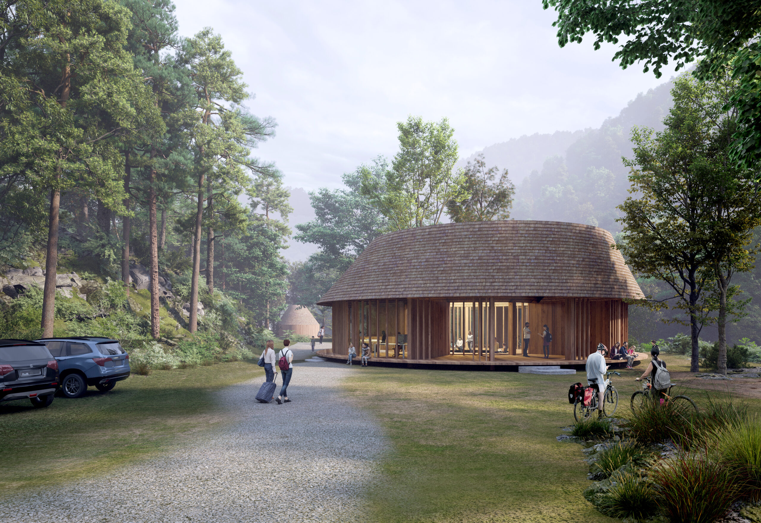 Ukagei Circles Center House - Photo Third Nature, Structured Environment, Henrik Innovation