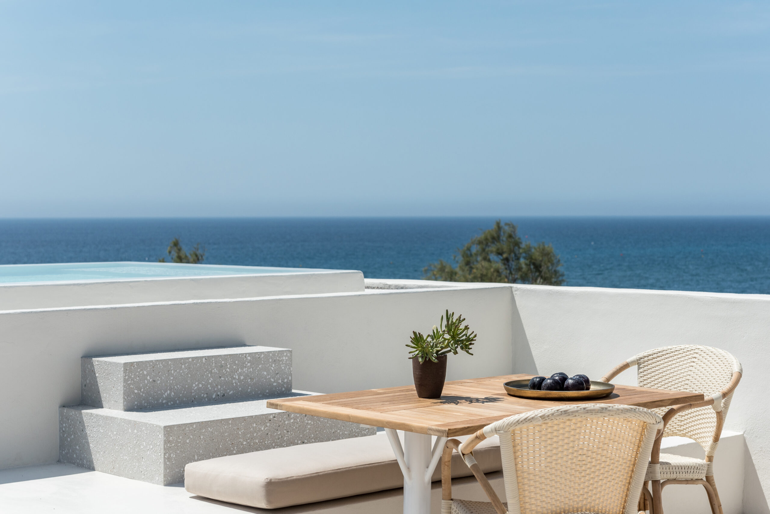 suite Istoria hotel Santorini Greece luxury villa design outdoor pool hot tub